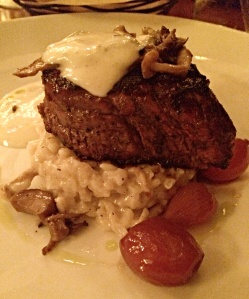 The fillet with mushroom risotto is incredible!