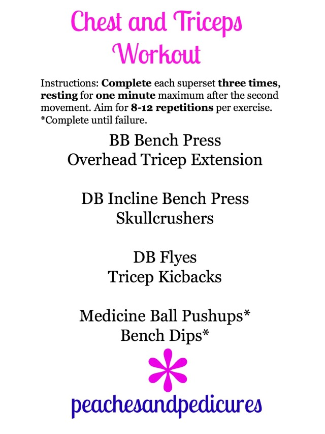 Chest and Triceps Superset Workout!