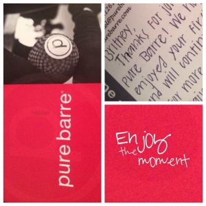 Pure barre postcard