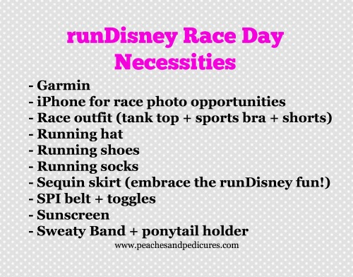 runDisney Race Day Necessities