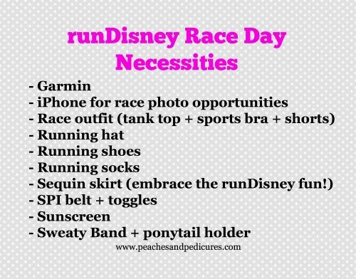 runDisney Race Day Necessities